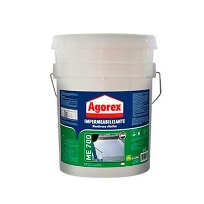 Impermeabilizante Agorex Me700 Membrana Elastica 20kg Balde