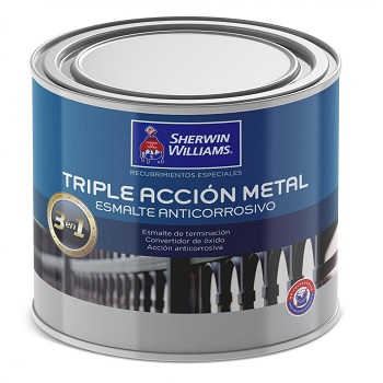 Anticorrosivo Triple Acción Metal 1/4 GL Blanco Crudo