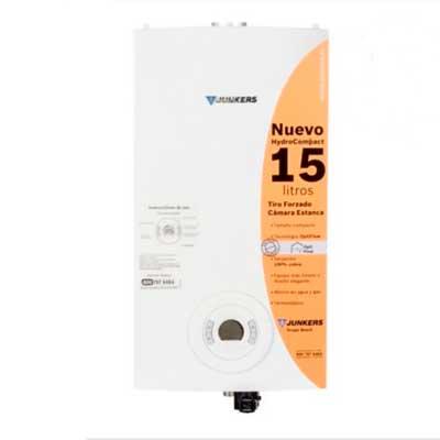 Calefont Gas Licuado Tiro Forzado 15Lt Sin Llama Cámara Estanca Incluye Kit