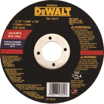 Disco Corte Metal 4.1/2 x 7/8 x 1