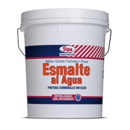 Esmalte Agua Semibrillo Tineta Blanco