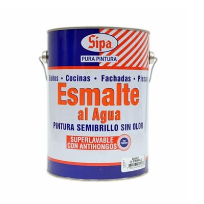 Esmalte al agua semibrillo 1GL