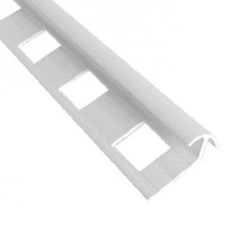 Esquinero encuentro para Cerámica 10mm Blanco Tira 2.5mt