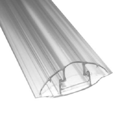 Perfil Concetor HCP 5,80m base y tapa transparentes 6-8mm