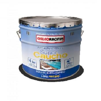 Pintura para Piscina Caucho Clorado 4 GL Azul Piscina
