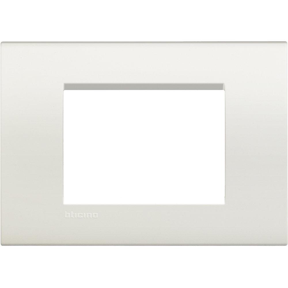 Placa Rectangular 3 modulos Blanco
