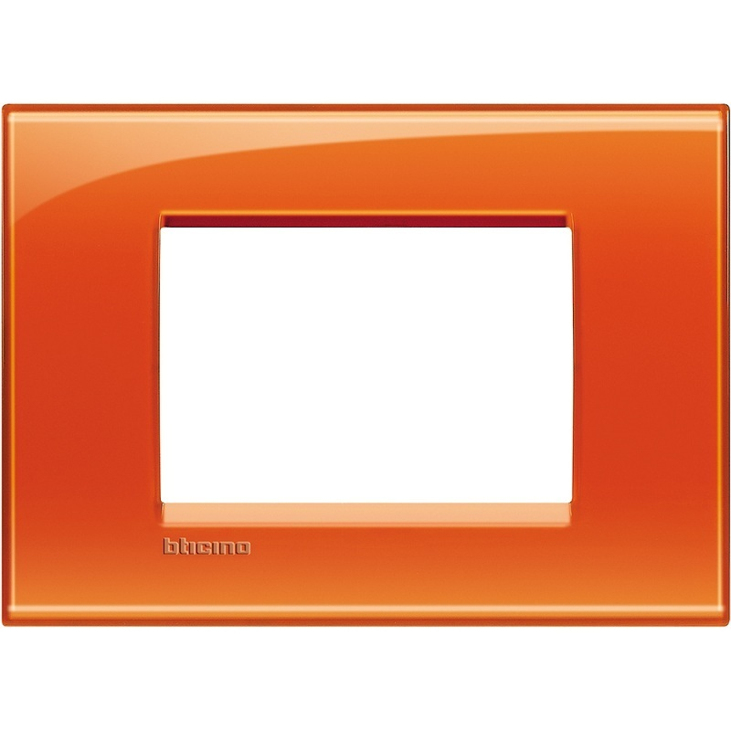 Placa 3 Modulos Living Light Naranja