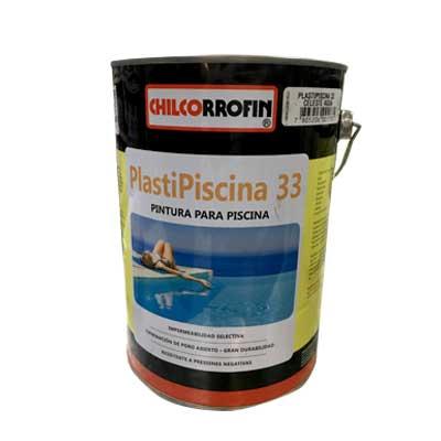 Pintura para Piscina Plasti Piscina 33 Base Solvente 1 GL Celeste Agua