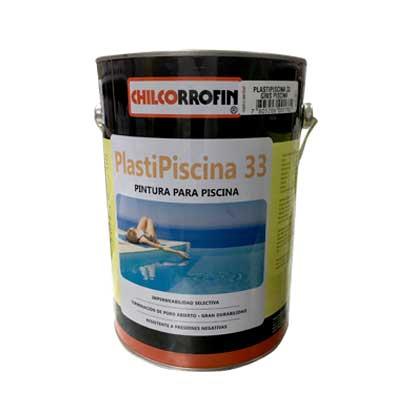 Pintura para Piscina Plasti Piscina 33 Base Solvente 1 GL Gris Piscina