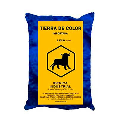 Tierra de Color 1 kg Azul