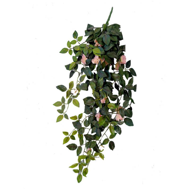 Colgante Rosas Artificiales Blancas