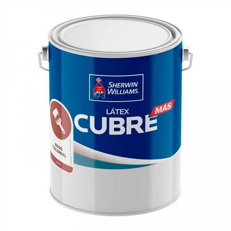 Latex Cubre Mas 1 Gl Rojo Colonial