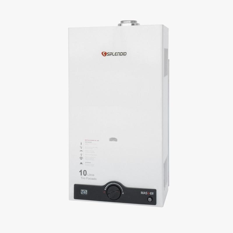 Calefont Gas Licuado Tiro Forzado 10Lt  Ionizado Incluye Kit