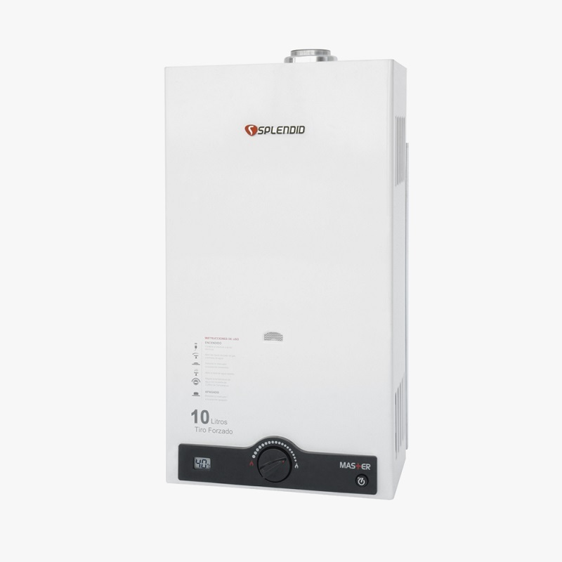 Calefont Gas Natural Tiro Forzado 10Lt Ionizado Incluye Kit